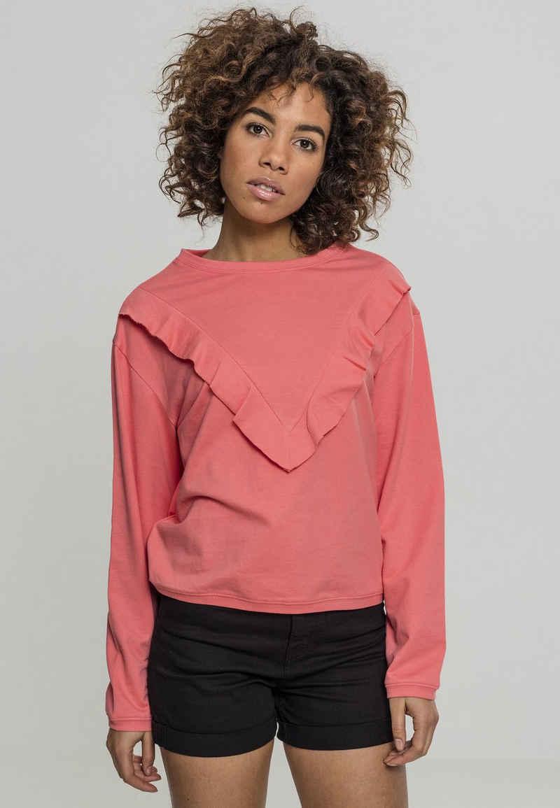 URBAN CLASSICS Sweatshirt »Ladies Terry Volant Crew«