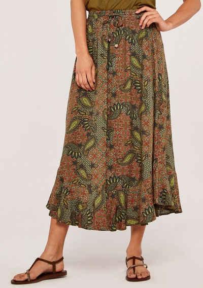 Apricot Maxirock »Paisley Enchant Curved Hem Skirt« (1-tlg) mit Smokbund