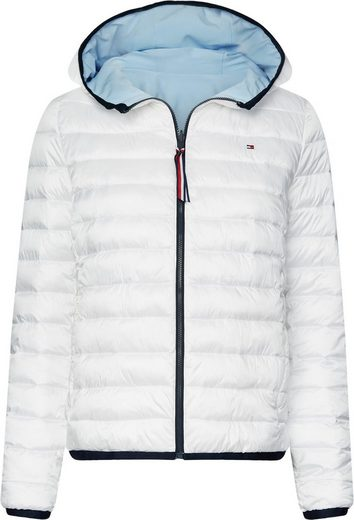 TOMMY HILFIGER Wendejacke »TH ESSENTIAL REVERS PADDED JKT« Logostickerei und kontrastfarbener Zipper in den Tommy Hilfiger Farben