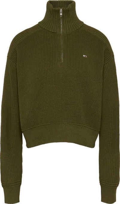 Tommy Jeans Strickpullover »TJW Utility Half Zip Sweater« mit Reißverschluss & Tommy Jeans Logo-Flag