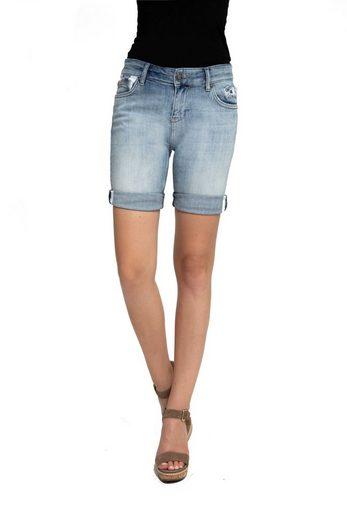 Zhrill Jeansshorts »Sharona Shorts« Zhrill Damen Shorts Mom Jeans Denim 5 Pocket Vintage Slim Fit Sharona