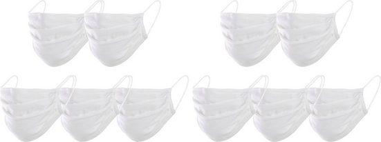 Mund-Nasen-Masken »Unisex«, (Packung, 10-tlg)