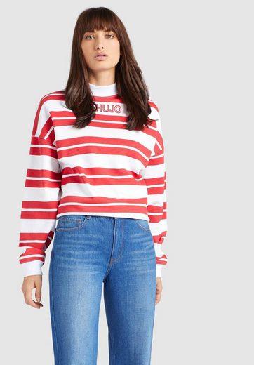 khujo Sweatshirt »APONA« mit Streifenmuster