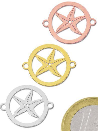 Adelia´s Kettenanhänger »Damen Schmuck Anhänger 925 Silber vergoldet silber Seestern«
