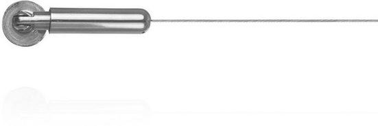Gardinenstange »Seilspanngarnitur 500 cm, Edelstahl Optik«, LICHTBLICK ORIGINAL, 1-läufig, kürzbar, Spannseilset zur Montage an Wand, Decke, Nische oder Dachschräge.
