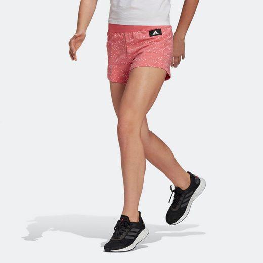 adidas Performance Shorts »adidas Sportswear Badge of Sport Allover-Print Shorts«