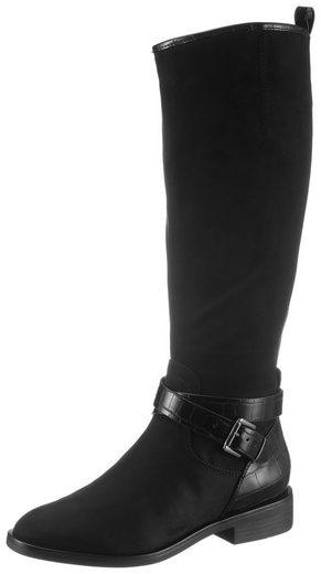 s.Oliver »Oxfard« Stiefel mit Kontrastbesatz in Krokoptik