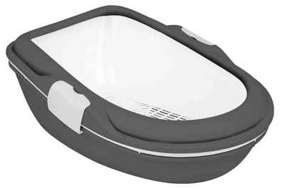 TRIXIE Katzentoilette »Berto XL mit Trennsystem, 3tlg, 47x26x69cm, dunkelgrau/granit«