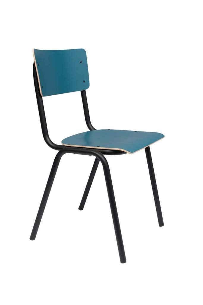 Zuiver Stapelstuhl »Stuhl Stapelstuhl BACK TO SCHOOL MATTE PETROL von ZUIVER«