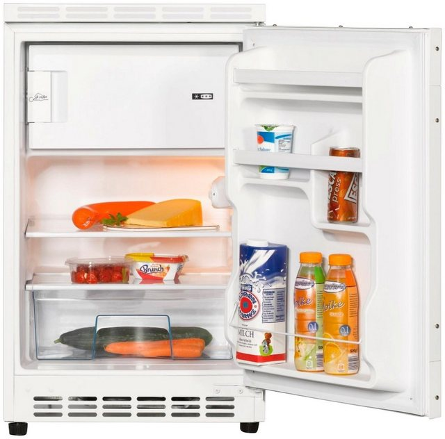 Respekta Küchenzeile KB150WS 150 cm Schwarz-Weiß
