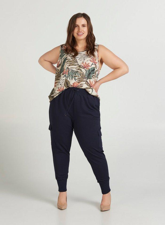 zizzi -  Stoffhose Große Größen Damen Hose mit Taschen und Tunnelzug