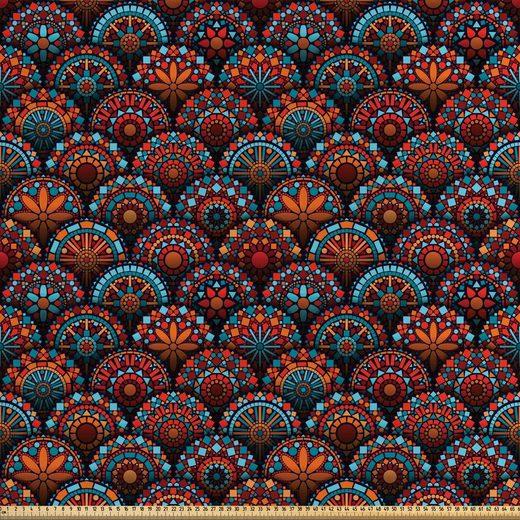 Abakuhaus Stoff »Zum Nähen Toller Stoff für Heimtextilien aller art«, Mandala Geometrische Blumenarten