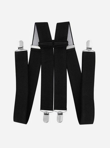 axy Hosenträger »HTB35« Herren Hosenträger 4 Stabile Clips H-Form 3,5cm Breit verstellbar und elastisch 120cm Lang
