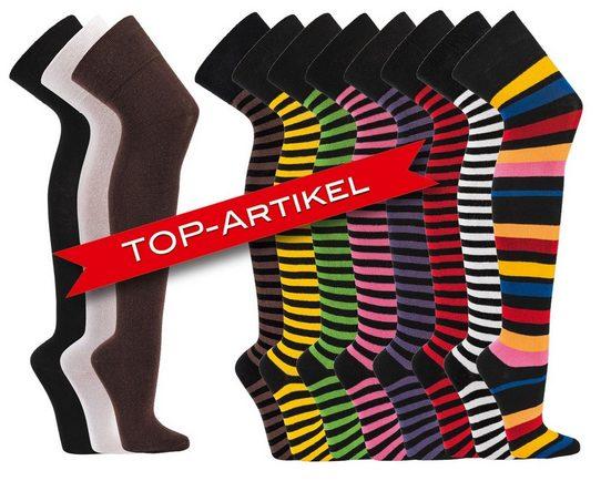 """Socks 4 Fun Overknees »Socks 4 Fun Overknees """"knee over socks"""" one size« (1-Paar, 1 Paar)"""