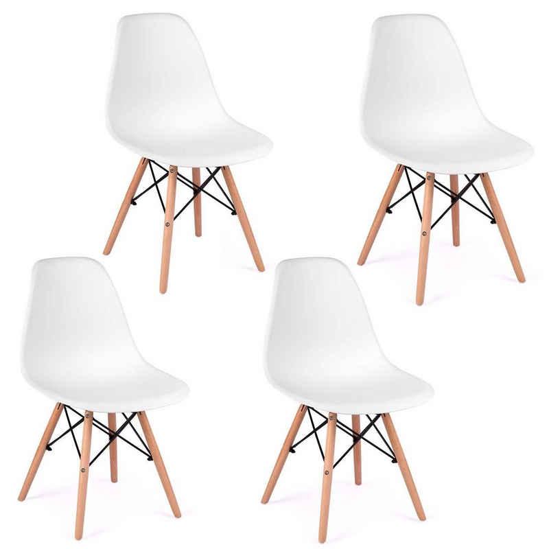 Sofotel Esszimmerstuhl »Moderner skandinavischer Stuhl Wohnzimmerstuhl Esszimmerstuhl Delta weiß« (1 Stück)