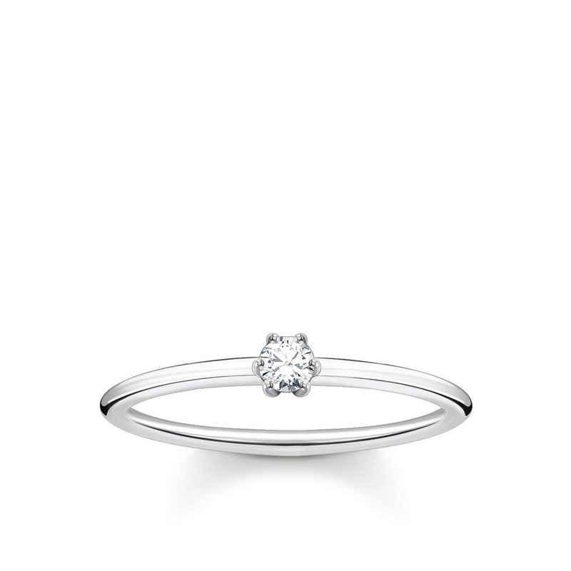 THOMAS SABO Fingerring »TR2312-051-14 Ring Damen Weißer Stein Silber Gr. 52«
