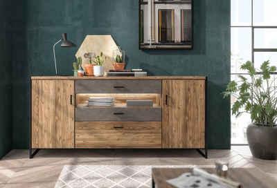set one by Musterring Sideboard »Modesto«, mit zwei Türen und 4 Schubladen an 2 Fronten, Breite 204 cm, Höhe 99,5 cm