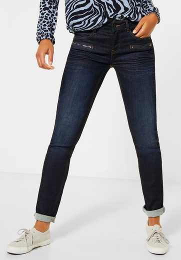 STREET ONE Comfort-fit-Jeans in dunkelblauer Waschung