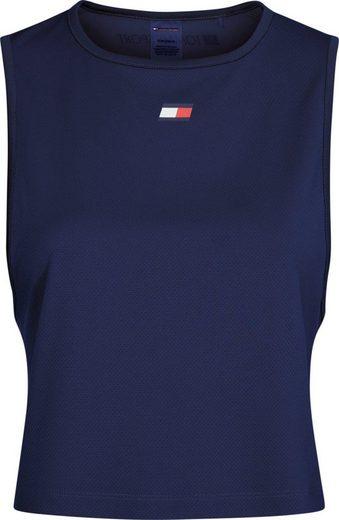 TOMMY SPORT Sporttop »PERFORMANCE TANK TOP LBR« mit Tommy Sport Logo-Flag & Schriftzug