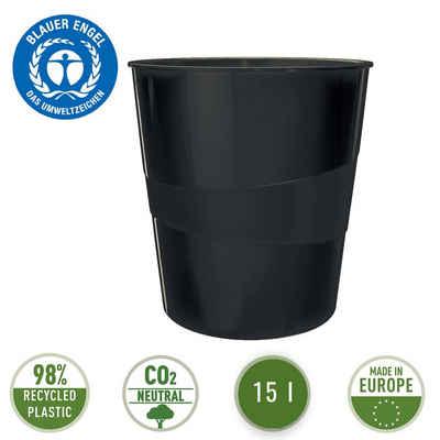 LEITZ Papierkorb »Nexxt Recycle«, 15 l Fassungsvermögen, 100 % recycelbar