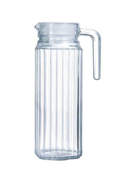 Luminarc Wasserkrug »Quadro«, Krug Kühlschrankkrug mit Deckel 1.1 Liter Glas transparent 1 Stück