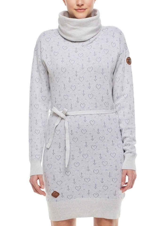 Ragwear Strickkleid »BABETT DRESS MARINA« mit maritimen Allover-Druck