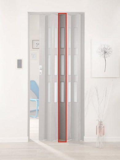 FORTE Türerweiterung , Zusatzlamelle für Falttür »Elvira«, grau gewebt + 3 Fenster