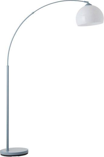 Lüttenhütt Bogenlampe »Klaas«, Stehleuchte blau/weiß, E27, max. 40W, H: 166 cm