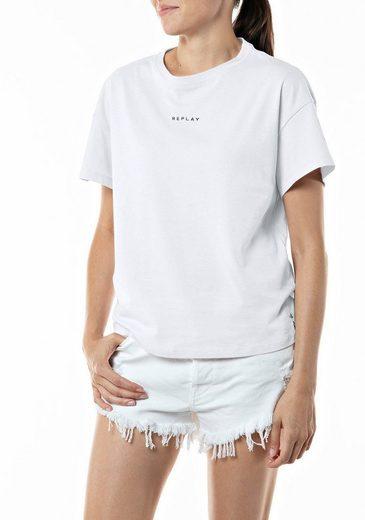 Replay T-Shirt mit eingenähter Falte an der Rückseite