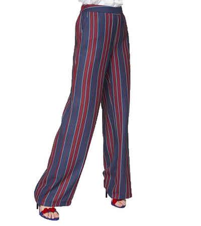 GUIDO MARIA KRETSCHMER Schlupfhose »GUIDO MARIA KRETSCHMER Schlupf-Hose trendige Damen Sommer-Hose mit Streifen Freizeit-Hose Rot/Blau«