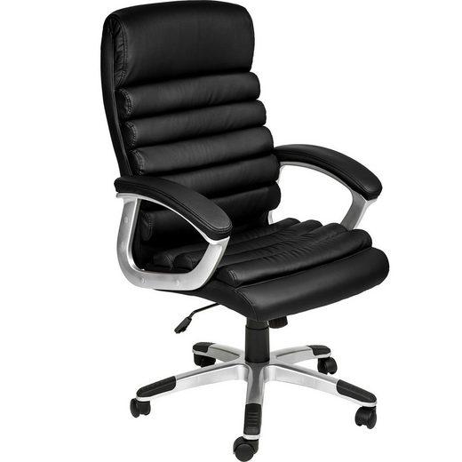 tectake Chefsessel »Chefsessel Paul« (1 Stück), extra dicke Polsterung, stufenlose Sitzhöhenverstellung
