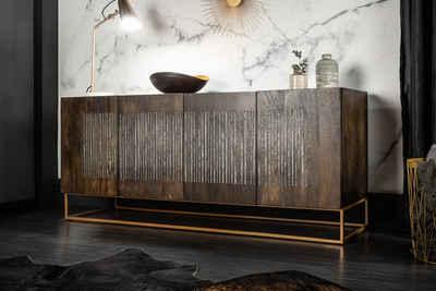 riess-ambiente Sideboard »ONYX 177cm natur«, Massivholz · Anrichte · mit Achatstein · Kommode · Wohnzimmer