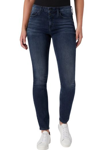 Calvin Klein Jeans Skinny-fit-Jeans Mit CK Branding-Knöpfen