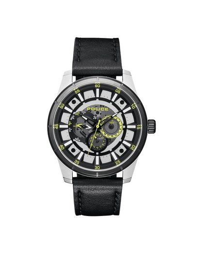 Police Multifunktionsuhr »Police PL15410JSTB.04 Herren-Uhr Lawrence Multifunktion Quarz Leder-Armband«