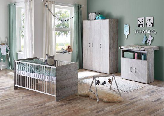 arthur berndt Babyzimmer-Komplettset »Isabella«, (Set, 3-St), Made in Germany; mit Kinderbett, Schrank und Wickelkommode