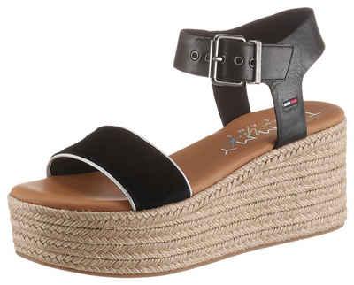 Tommy Jeans »ESSENTIAL FLATFORM SANDAL« Sandalette mit dezenter Logostickerei