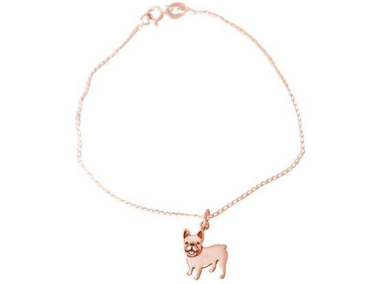 Gemshine Charm-Armband »FRANZÖSISCHE BULLDOGGE Hund«, Made in Spain