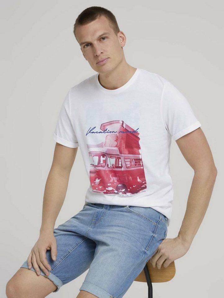 tom tailor -  T-Shirt »Print T-Shirt mit Bio-Baumwolle«