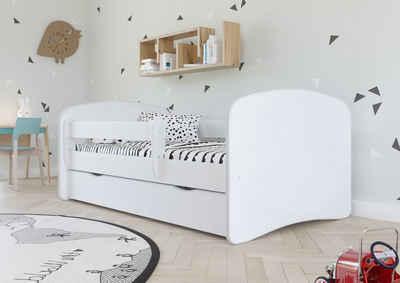 Bjird Kinderbett, mit Rausfallschutz und Schublade