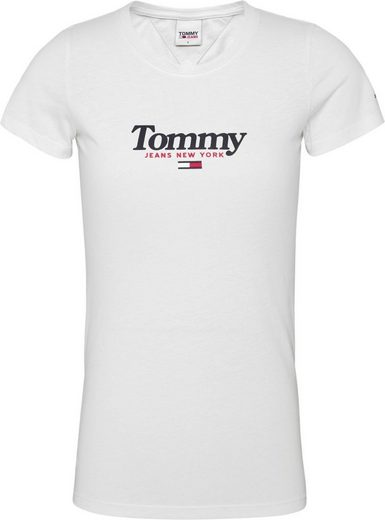 TOMMY JEANS Rundhalsshirt »TJW ESSENTIAL LOGO TEE« mit Tommy Jeans City Logo-Print