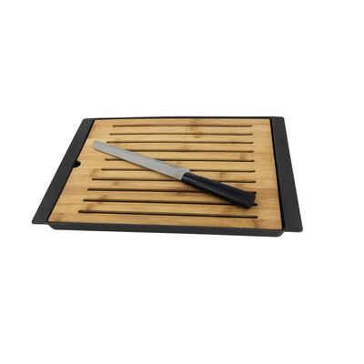 Neuetischkultur Brotschneidebrett »Brotschneidebrett mit Brotmesser«, Bambus