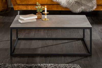 riess-ambiente Couchtisch »SYMBIOSE 100cm grau / schwarz«, Wohnzimmertisch · Keramik · Metall-Gestell · Beton-Optik · Industrial