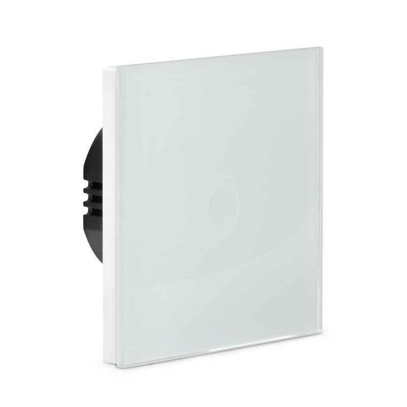 Navaris Lichtschalter, Touch Wandschalter - haptische Oberfläche - Licht Berührungsschalter mit Glas Panel - Design Schalter einfach