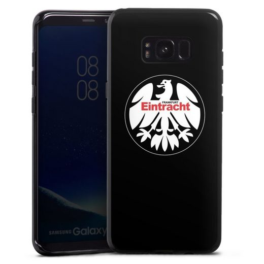 DeinDesign Handyhülle »Eintracht Frankfurt retro Adler« Samsung Galaxy S8 Plus, Hülle Offizielles Lizenzprodukt Eintracht Frankfurt SGE
