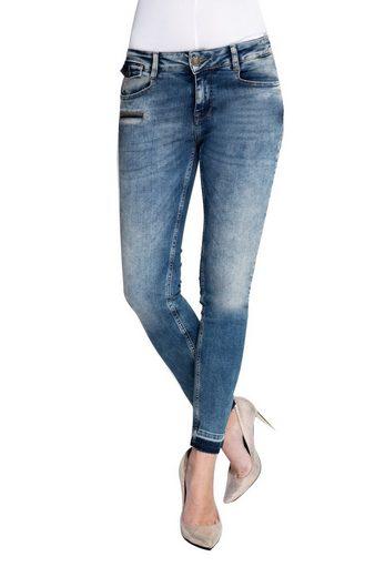 Zhrill Slim-fit-Jeans »Mia« Zhrill Damen Jeanshose Röhrenjeans 5 Pocket Vintage Skinny Fit Mia